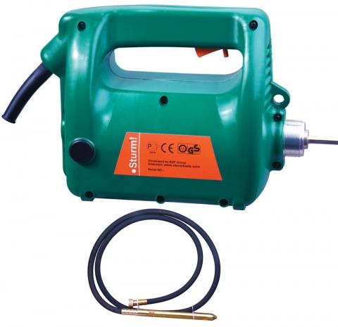 products/CV7120 Портативный вибратор для бетона Sturm, 2000 Вт, вал 4 м