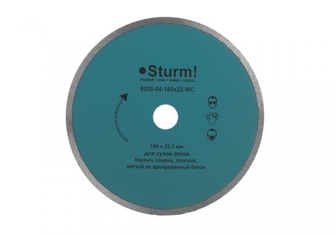 products/9020-04-180x22-WC Алмазный диск, влажная резка, непрерывный 180мм Sturm!