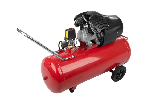 products/AC93104 Воздушный компрессор Sturm, 2400 Вт, 100л, 410л/мин, 8бар, 2850 об/мин, предохр. клапан