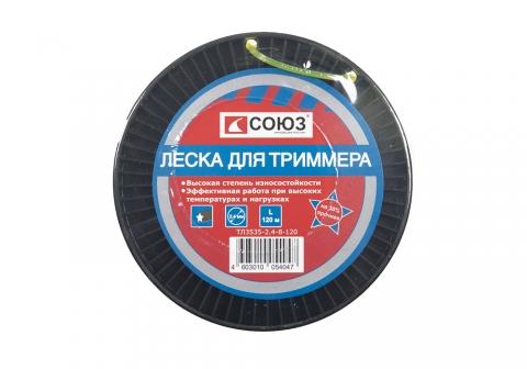 products/ТЛ3535-2.4-8-120 Леска для триммера, d=2.4 мм, l=120 м, ЗВЕЗДА, желтый БОБИНА , СОЮЗ