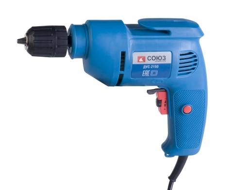products/ДУС-2150 Дрель электрическая СОЮЗ, 500 Вт, 0-3600 об/мин, РЕГ ОБОР, быстрозажимн патрон 10мм