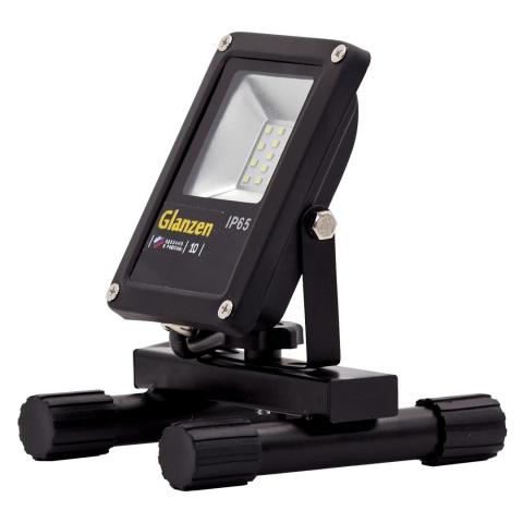 products/Светодиодный прожектор переносной GLANZEN FAD-0018-10 (10 Вт, 6000К)