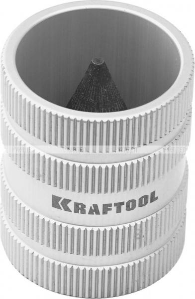 """Фаскосниматель KRAFTOOL""""EXPERT""""универс внутр/внеш для труб из нерж. стали,меди,пластика от 8 до 35мм( от 5/16""""до1 3/8"""")"""