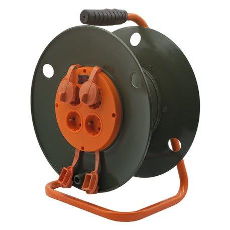 products/Катушка без провода GLANZEN 4 розетки с заземл. резиновыми заглушками Ф300мм арт. EK-04-300