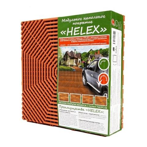 products/Плитка модульная пластиковая садовая Helex 1 кв.м, терракотовая, арт. HLT