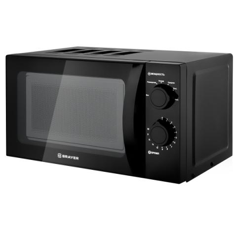 products/Микроволновая печь BRAYER BR2500, 700 Вт, 20 л, 6 режимов, чёрная
