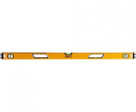 products/Уровень JCB JBL005 коробчатый, магнитный, 2 фрезерованные базовые поверхности, 3 ампулы, крашенный, с ручками, 0,5мм/м, 120см