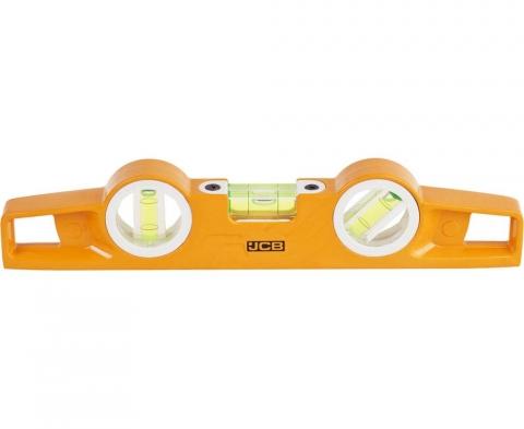 products/Уровень JCB (JBL008) Торпедо литой алюминиевый, 3 ампулы, точность 0,5мм/м, 25см