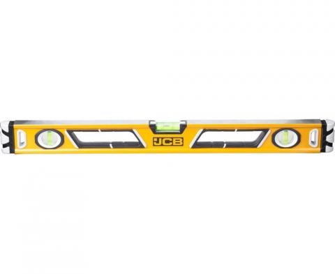 products/Уровень JCB JBL003 коробчатый, магнитный, 2 фрезерованные базовые поверхности, 3 ампулы, крашенный, с ручками, 0,5мм/м, 60см