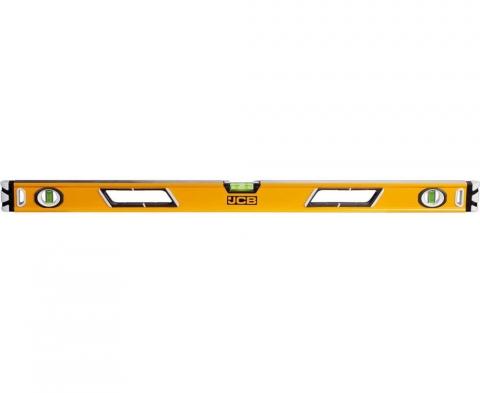 products/Уровень JCB JBL004 коробчатый, магнитный, 2 фрезерованные базовые поверхности, 3 ампулы, крашенный, с ручками, 0,5мм/м, 90см