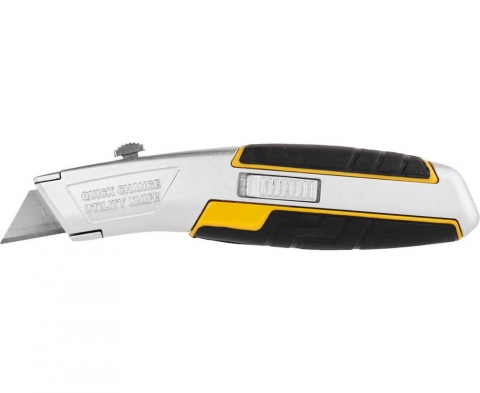 products/Нож JCB (JLC005) металлический, с выдвижным трапециевидным лезвием, тип А24, автозамена лезвий