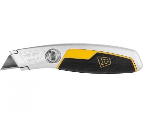 """products/Нож JCB (JLC006) металлический, с трапециевидным лезвием, тип """"А24"""", фиксированное лезвие"""
