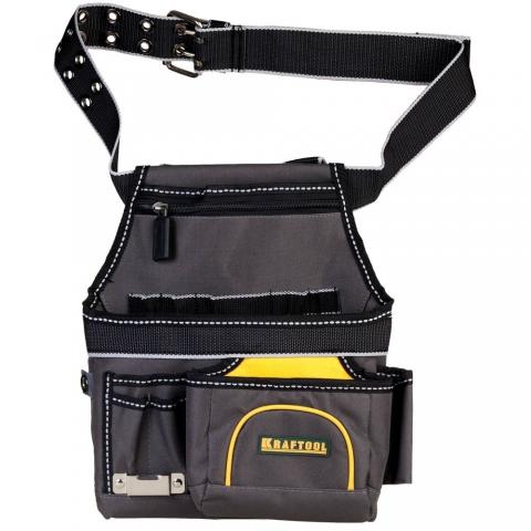 products/Сумка KRAFTOOL INDUSTRIE поясная с ремнем, 9 карманов, петля для крепления рулетки
