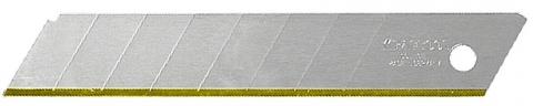 """products/Лезвие """"SOLINGEN"""" сменное, KRAFTOOL 09606-TIN-18-S5, сегментиров, нитрид титана, многоуровневая закалка, 15 сегментов, 18мм, 5шт 09606-TIN-18-S5_z01"""