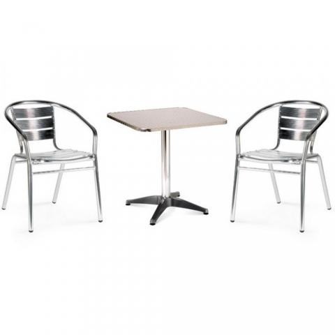 products/Комплект мебели для летнего кафе Afina LFT-3059/T3125-60x60 Silver (2+1), арт. LFT-3059/T3125-60x60 Silver 2Pcs