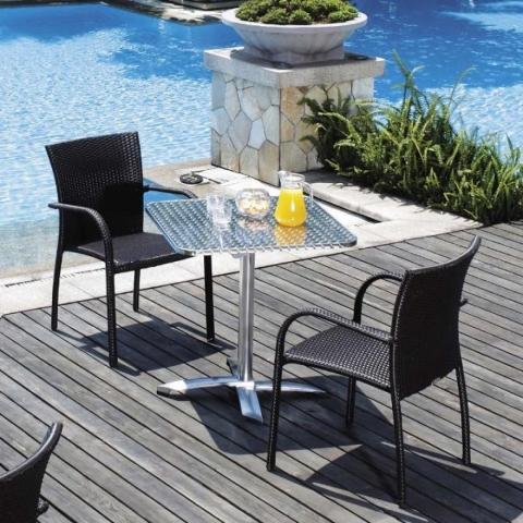 products/Комплект мебели для летнего кафе из иск. ротанга Afina LFT-3125A/Y282A-W52 Brown (2+1), арт. LFT-3125A/Y282A-W52 Brown 2Pcs