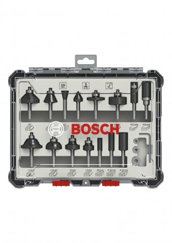 products/Набор фрез смешанный Bosch 6мм. 15шт. (арт. 2607017471)