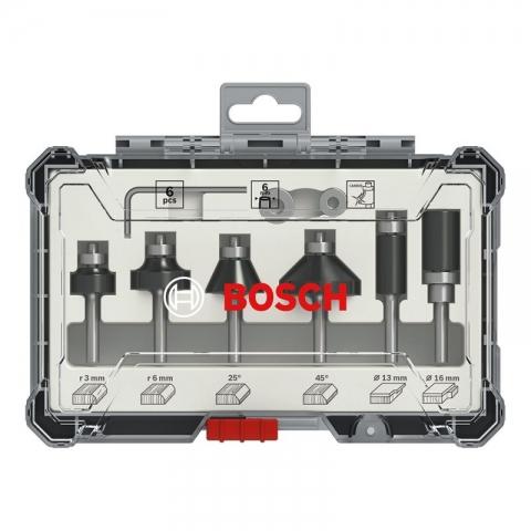 products/Набор кромочных фрез Bosch 6мм. 6шт. (арт. 2607017468)