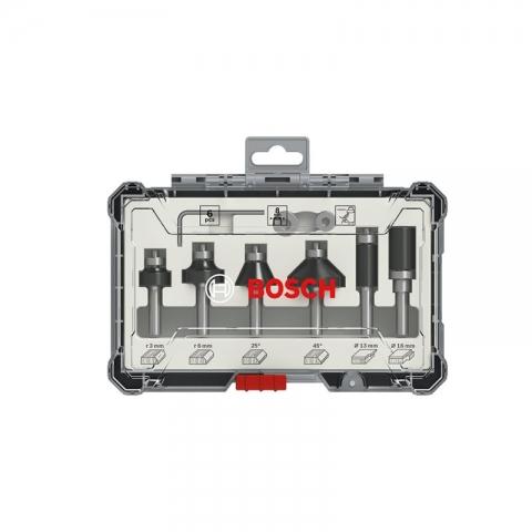 products/Набор кромочных фрез Bosch 8мм. 6шт. (арт. 2607017469)