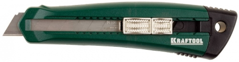 products/Нож с сегментированным лезвием Solingen, KRAFTOOL 09195, металлический корпус, кассета с 3 лезвиями, 18 мм 09195_z01