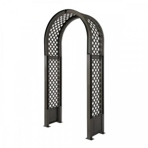 products/Садовая арка KHW 100х207см с штырями для установки, антрацит, арт. 37905