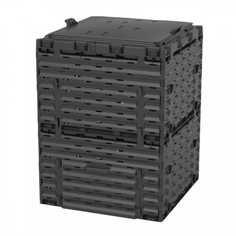 products/Компостер Piteco 300 л чёрный с крышкой, арт. K1130