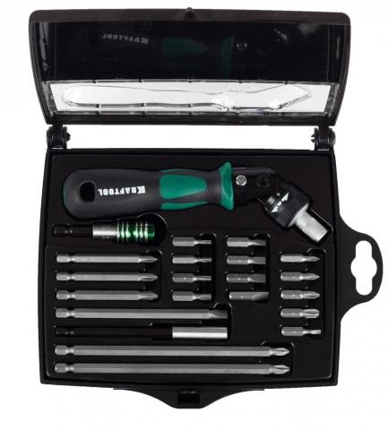 products/Реверсивно-рычажная отвертка Kraftool EXPERT 25555-H22