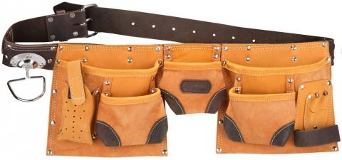 products/Пояс KRAFTOOL для инструментов, натуральная кожа, 9 карманов 1-38520