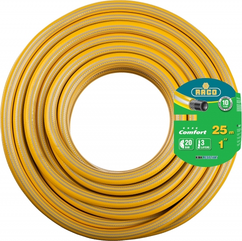 products/Шланг RACO COMFORT поливочный, 20атм., армированный, 3-х слойный, 1х25м