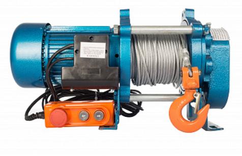 products/Лебедка TOR KCD-500 E21 (ЛЭК-500) 500 кг, 380 В с канатом 100 м