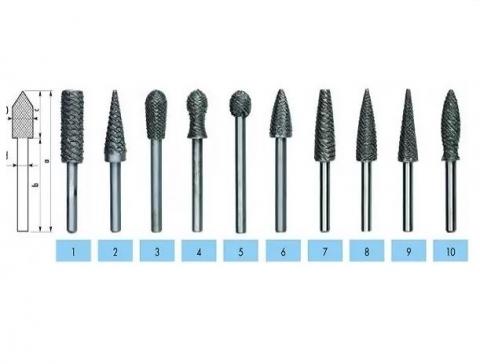 products/Бор-фреза по дереву №4 (11.5 мм; 60 мм) AJAX, 286221120704