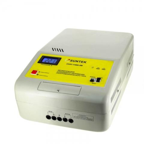 products/Стабилизатор напряжения SUNTEK 11000 ВА ЭМ, 120-285В, 3 года гарантии