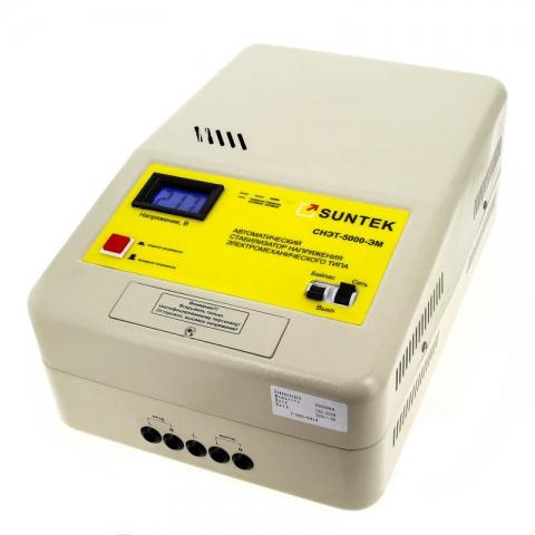 products/Стабилизатор напряжения SUNTEK 5000 ВА ЭМ, 120-285В, 3 года гарантии