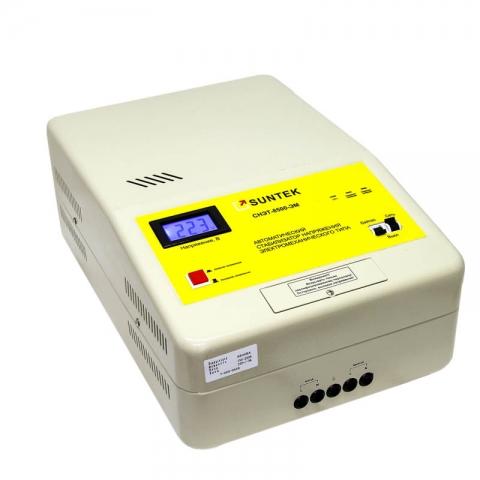products/Стабилизатор напряжения SUNTEK 8500 ВА ЭМ, 120-285В, 3 года гарантии