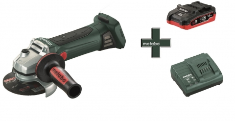 products/Аккумуляторная угловая шлифмашина Metabo W 18 LTX 125 + LiHD аккумулятор 3,5 Ач + зарядное устройство ASC 30-36, T03330