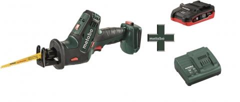 products/Аккумуляторная сабельная пила Metabo SSE 18 LTX Compact + LiHD аккумулятор 3,5 Ач + зарядное устройство ASC 55 T03340
