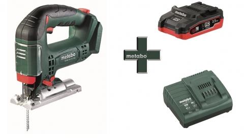 products/Лобзик Metabo STAB 18 LTX 100 + LiHD аккумулятор 3,5 Ач + зарядное устройство ASC 55 (T03350)