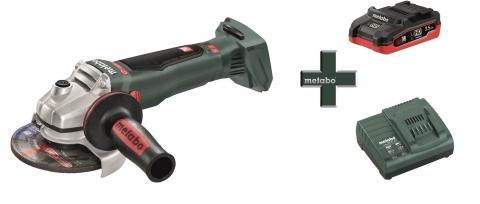 products/Аккумуляторная угловая шлифовальная машина Metabo WB 18 LTX BL 125 Quick + LiHD аккумулятор 3,5 Ач + зарядное устройство ASC 55 T03360