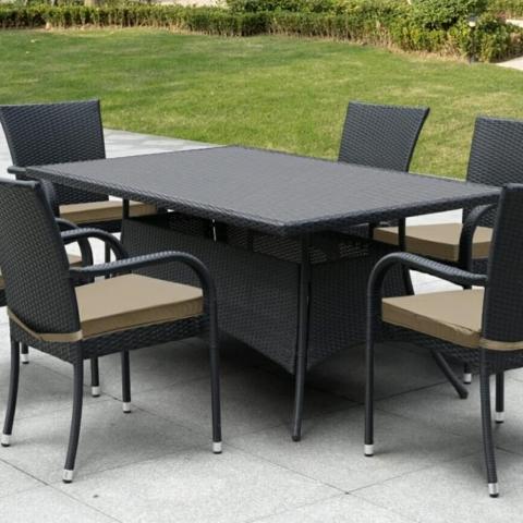 products/Плетеный стол Afina AFM-170S Black