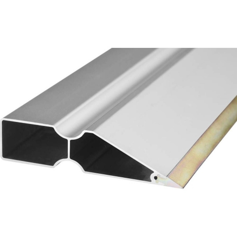 products/Правило Bi-Metall со стальной рабочей кромкой, KRAFTOOL 10735-1.5, тип TRK-трапеция DuoGrip, анодированный алюмин профиль, 1,5м