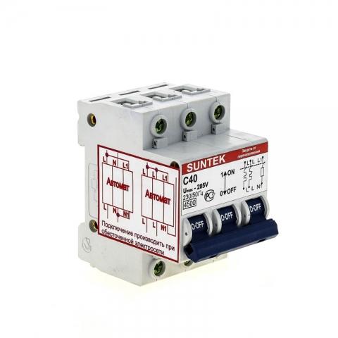 products/Устройство защиты от отгорания нуля и перенапряжений УЗОН SUNTEK-C 40А, 1 год гарантии