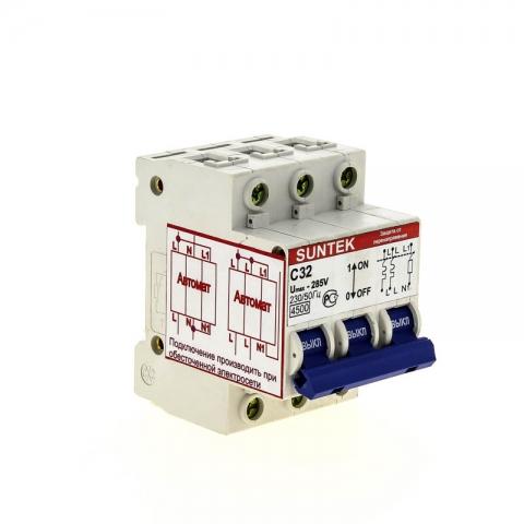 products/Устройство защиты от отгорания нуля и перенапряжений УЗОН SUNTEK-C 32А, 1 год гарантии