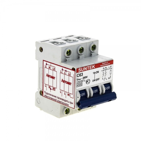 products/Устройство защиты от отгорания нуля и перенапряжений УЗОН SUNTEK-C 63А, 1 год гарантии